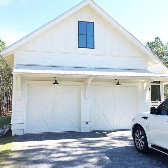 3beaches why your garage door shouldn 39 t be boring for Farm style garage doors